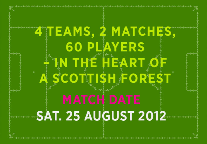 4 teams, 2 matches, 60 players - in the heart of a scottish forest