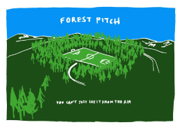 Forest Pitch screenprint by Craig Coulthard