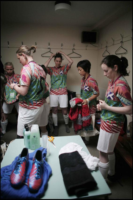 Ladies changing room preparations