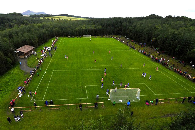 Aerial of the pitch on Match Day